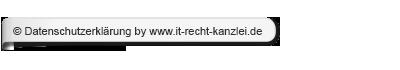 Datenschutzerkl�rung by www.it-recht-kanzlei.de